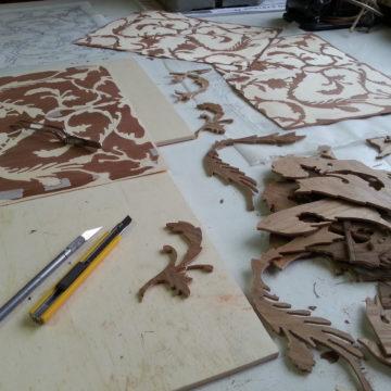 Preparazione dell'intarsio